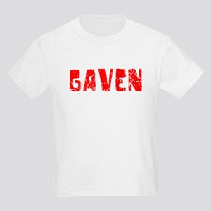 Gaven Faded (Red) Kids Light T-Shirt
