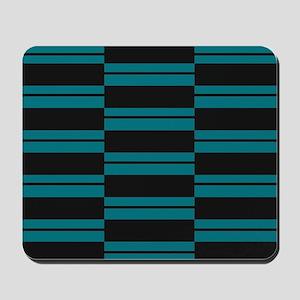 Black and Slate Blue Plank Mousepad
