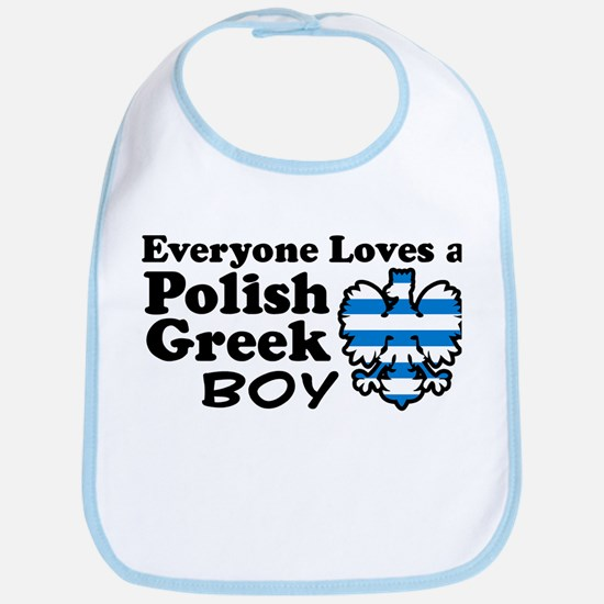 Polish Greek Boy Bib