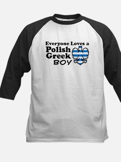 Polish Greek Boy Kids Baseball Jersey