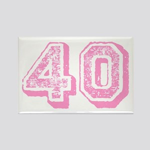 Pink 40 Years Old Birthday Rectangle Magnet