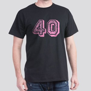 Pink 40 Years Old Birthday Dark T-Shirt