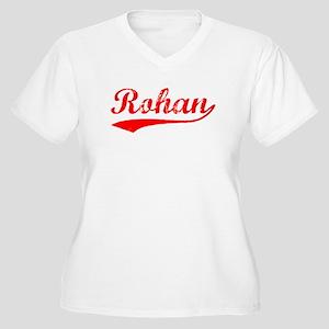 Vintage Rohan (Red) Women's Plus Size V-Neck T-Shi