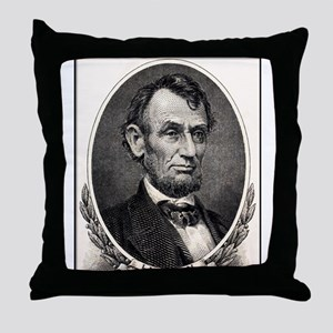 Abe Lincoln portrait Throw Pillow