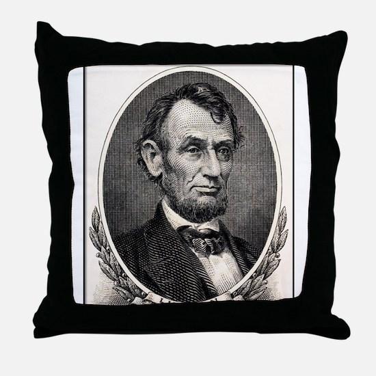 Abe Lincoln portrait Throw Pillow