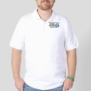 Irish Greek Girl Golf Shirt