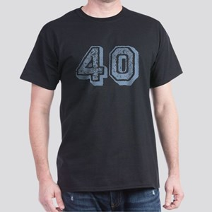 Blue 40 Years Old Birthday Dark T-Shirt