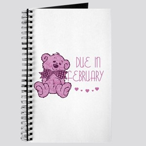 Pink Marble Teddy Due February Journal