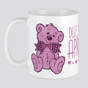 Pink Marble Teddy Due In April Mug
