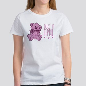 Pink Marble Teddy Due In April Women's T-Shirt