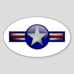 USAF Roundel Oval Sticker