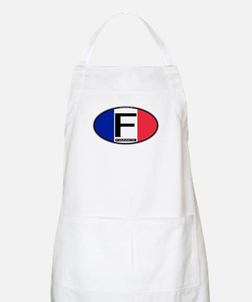 France Oval Colors BBQ Apron