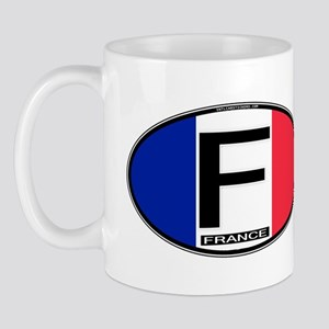 France Oval Colors Mug