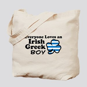 Irish Greek Boy Tote Bag