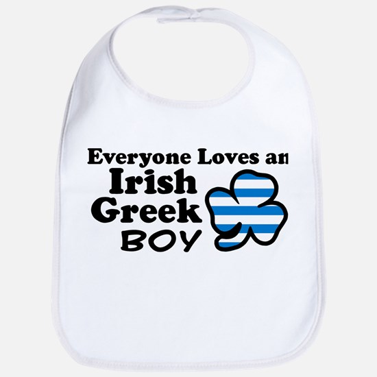 Irish Greek Boy Bib