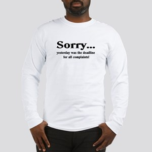 complaints Long Sleeve T-Shirt
