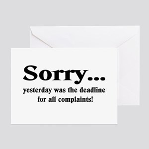 complaints Greeting Card
