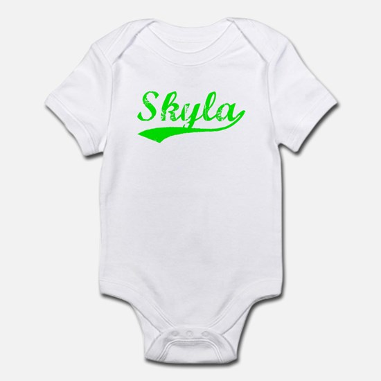 Vintage Skyla (Green) Infant Bodysuit