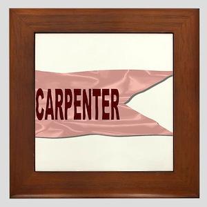 Carpenter Silk Flag Framed Tile