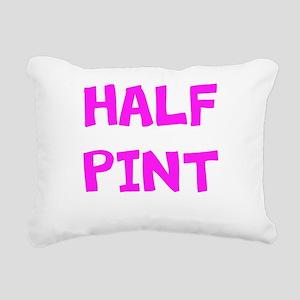 Half Pint Pink Rectangular Canvas Pillow