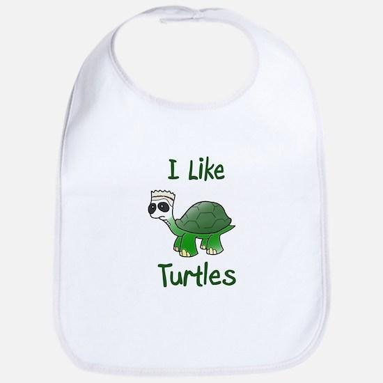 i like turtles Baby Bib
