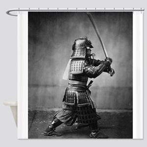 Vintage Samurai with Sword and Dagg Shower Curtain