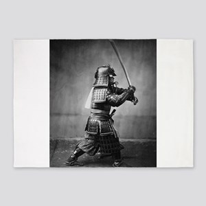 Vintage Samurai with Sword and Dagg 5'x7'Area Rug