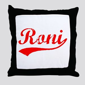 Vintage Roni (Red) Throw Pillow