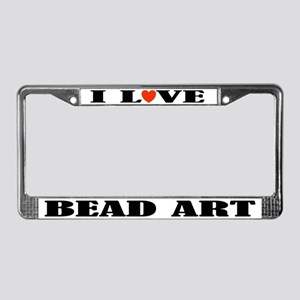 Bead Art License Plate Frame