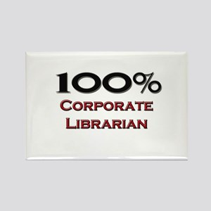 100 Percent Corporate Librarian Rectangle Magnet