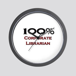 100 Percent Corporate Librarian Wall Clock