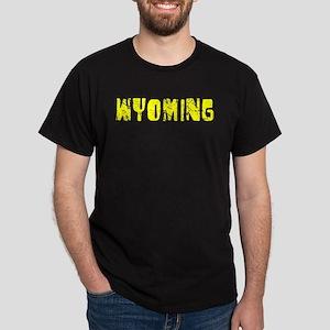 Wyoming Faded (Gold) Dark T-Shirt
