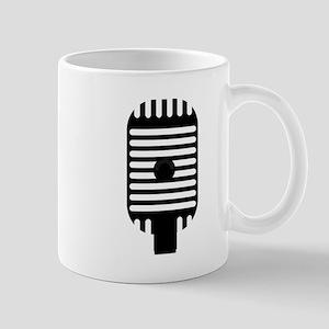 Classic Microphone Silhouette Mugs