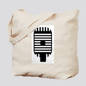 Classic Microphone Silhouette Tote Bag