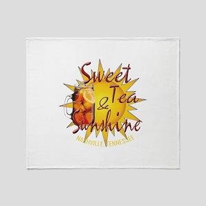 Nashville Sweet Tea & Sunshine Throw Blanket
