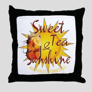 Nashville Sweet Tea & Sunshine Throw Pillow