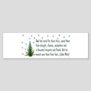 Save The Trees Sticker (Bumper)