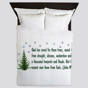 Save The Trees Queen Duvet