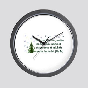 Save The Trees Wall Clock