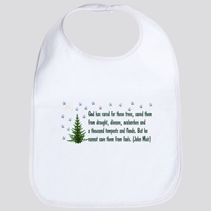 Save The Trees Cotton Baby Bib