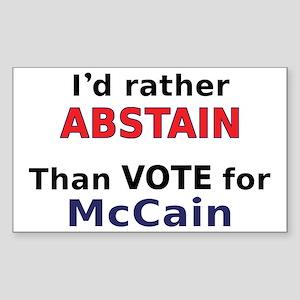 McCain - Abstain Rectangle Sticker