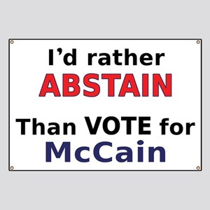 McCain - Abstain Banner
