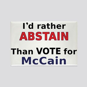McCain - Abstain Rectangle Magnet