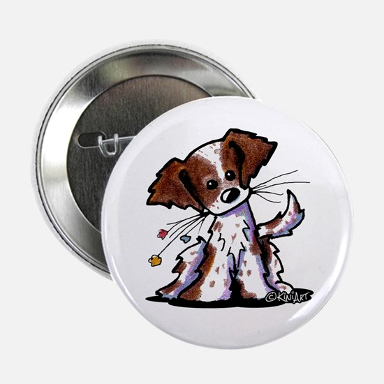 """Tiny Liver Brittany 2.25"""" Button"""