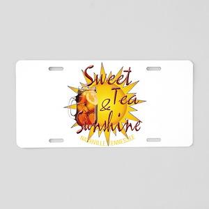Nashville Sweet Tea & Sunsh Aluminum License Plate