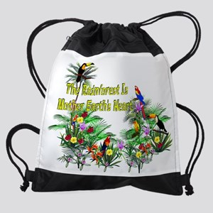 Mother Earth's Heart Drawstring Bag