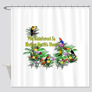 Mother Earth's Heart Shower Curtain