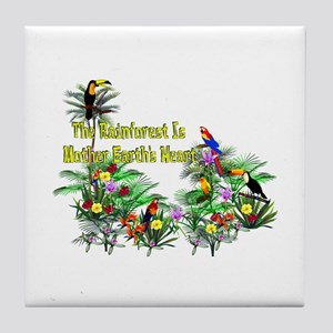 Mother Earth's Heart Tile Coaster