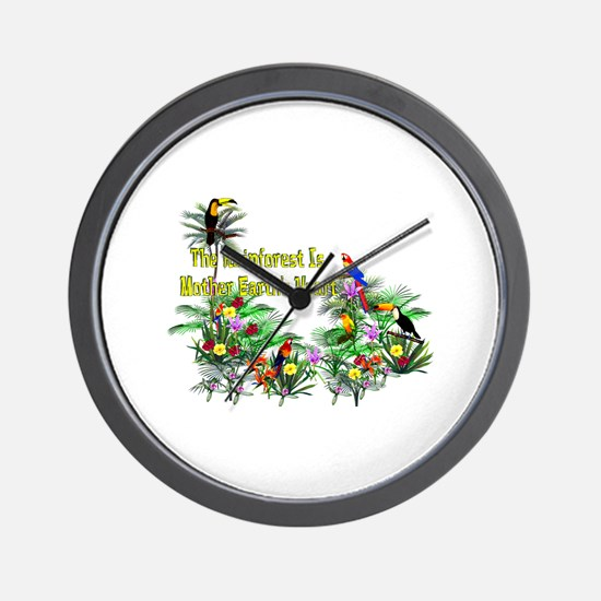 Mother Earth's Heart Wall Clock