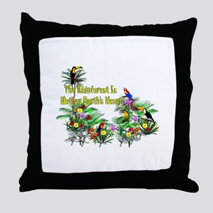 Mother Earth's Heart Throw Pillow